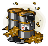 Oil Crisis. Cartoon Series
