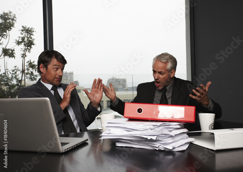 Man shouting at his colleague