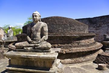Buddha Statues at Vatadage, Sri Lanka