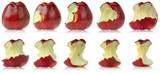 Sequence of eaten apple poster