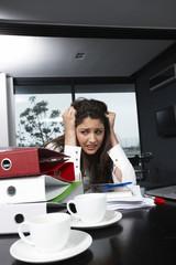Anxious business woman