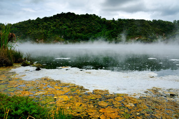 Frying Pan Lake, Waimangu Volcanic Valley, New Zealand