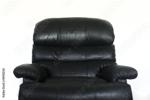 Black TV chair on white background