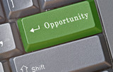 Keyboard with hot key for opportunity poster