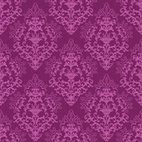 Fototapety Seamless fuchsia purple floral wallpaper