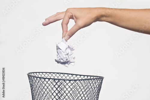Hand with garbage