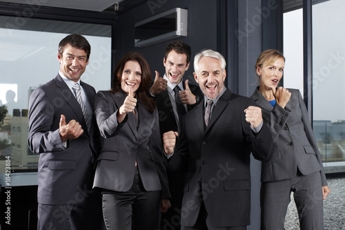 Motivated business team