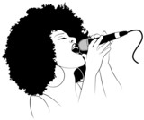 Vector illustration of a jazz singer