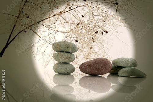 Paysage zen avec galets photo libre de droits sur la for Paysage zen