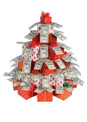 Christmas fir of gifts