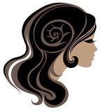 Fototapeta czarny - zbliżenie - Włosy
