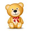 Название: Little teddy bear isolated on white background.