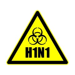H1N1 Warnschild