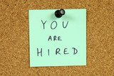 Career concept - you are hired poster