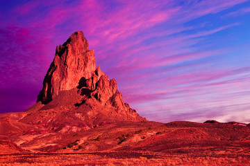 Dramatic Rock Formation and Sky in Monument Valley