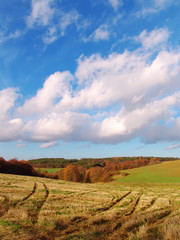 The beutiful Autumn country Landscape