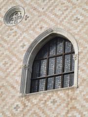 Ventanas góticas en el Palacio del Dux de Venecia