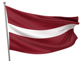 Latvia National Flag poster