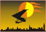 Freiheit  grenzenlos - Drachenfliegen poster