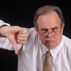 Displeased executive