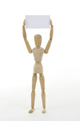 Mannequin with blank card