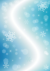 Christmas wave background (vector)