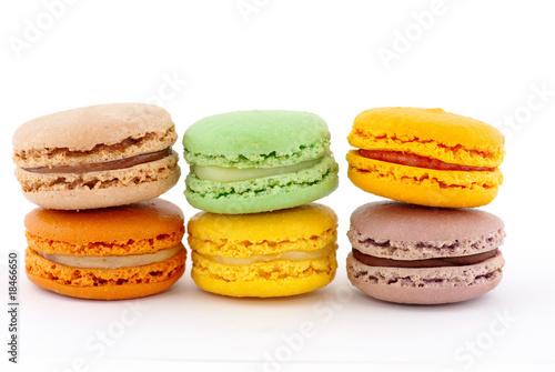 Papiers peints Macarons six macarons