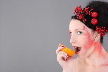 Orangenbiss