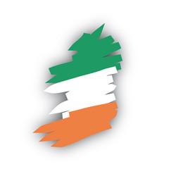 Irlanda mappa bandiera