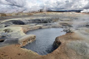 Iceland - Namafjall volcanic area near Krafla