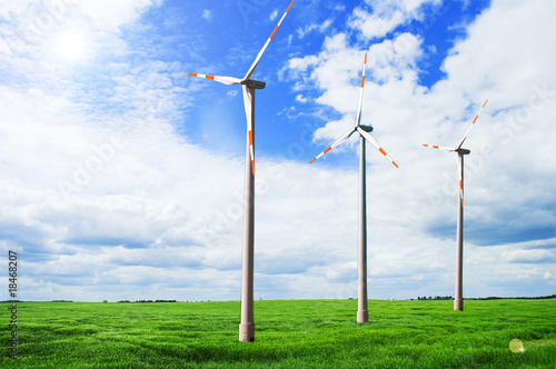 wind turbines in the field