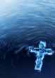 Holy water Cross - religious metaphor