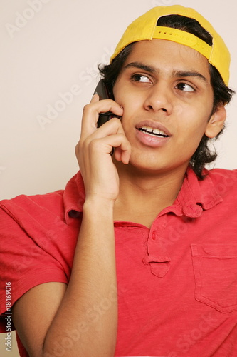 Young Man on Telephone