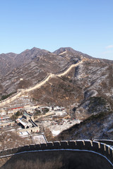 the Great Wall with snow left