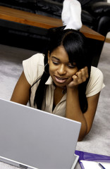 Girl at laptop