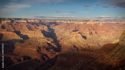 (1138) Grand Canyon Arizona Sunset Landscape South Rim Timelapse