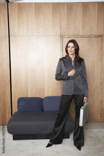 Business woman with a suitcase