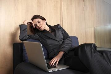 Sleepy business woman