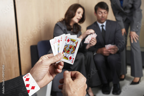Playing with cards in the office