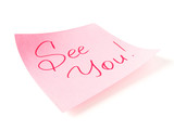 See you handwritten message poster