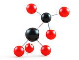 Molecular background poster