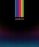 abstract background with spectrum, rainbow colors, dots poster