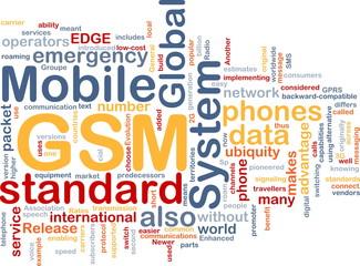 GSM word cloud