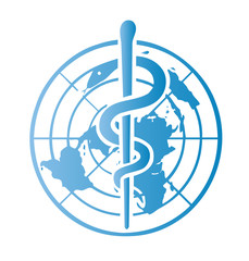 world health symbol vector