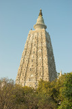 Mahabodhi temple in Bodhgaya, place of Buddha enlightenment poster
