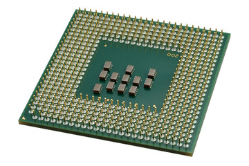 Close up of a CPU processor