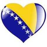 Bosnia and Herzegovina in heart poster