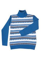 Winter stylish,blue sweater on a white.