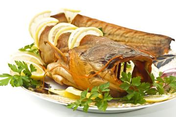Tasty dinner - fresh-water catfish (sheatfish)