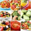 Gemüse Salat Collage